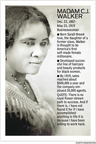 a biology of madam cj walker the first female self made millionaire in america Netflix will tell the story of the first black, self-made female millionaire the streamer has given a series order to executive producer octavia spencer's madam cj walker, which stars the .