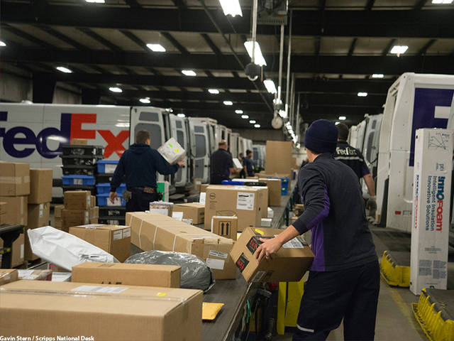 go behind the scenes as ups fedex race to deliver in time