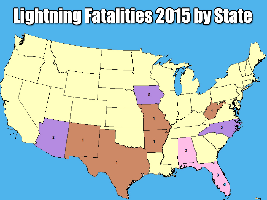 Lightning Strikes Double In US This Year NWS Says - Map of lightning strikes in the us