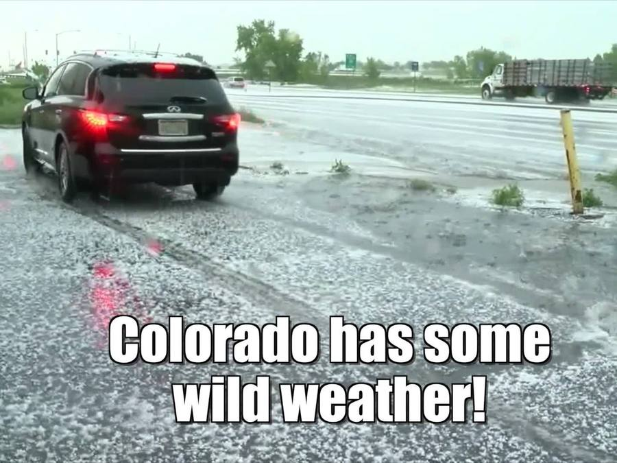 A whole lot of hail in Colorado