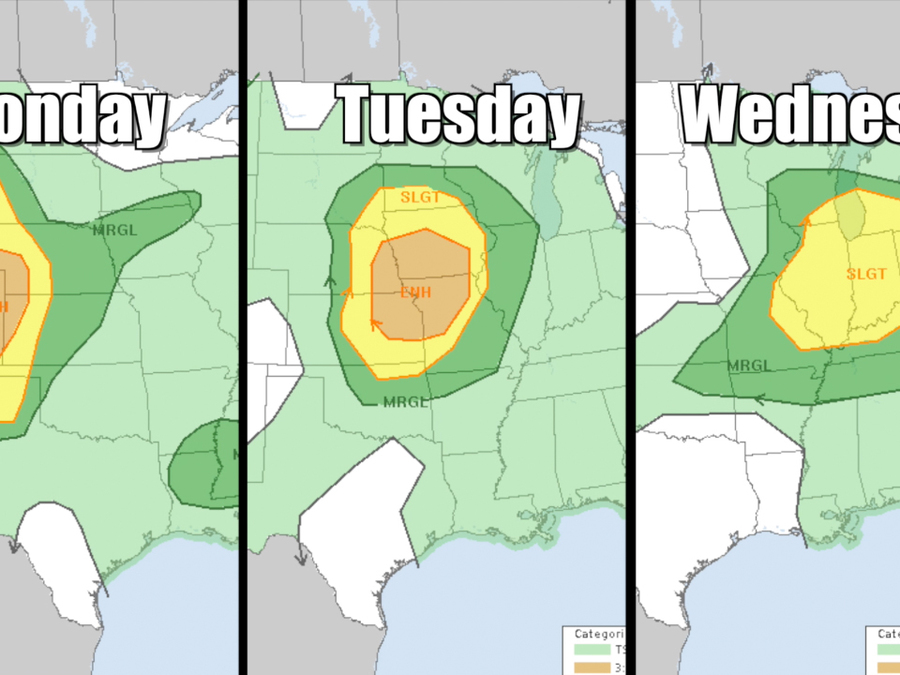 Severe storms are back again this week