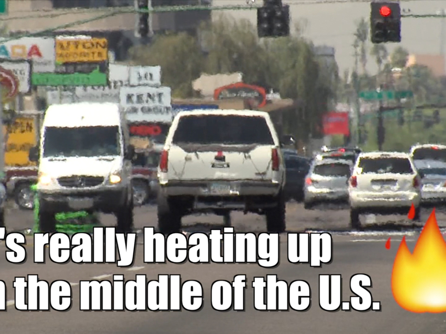 The Central U.S. is heating up