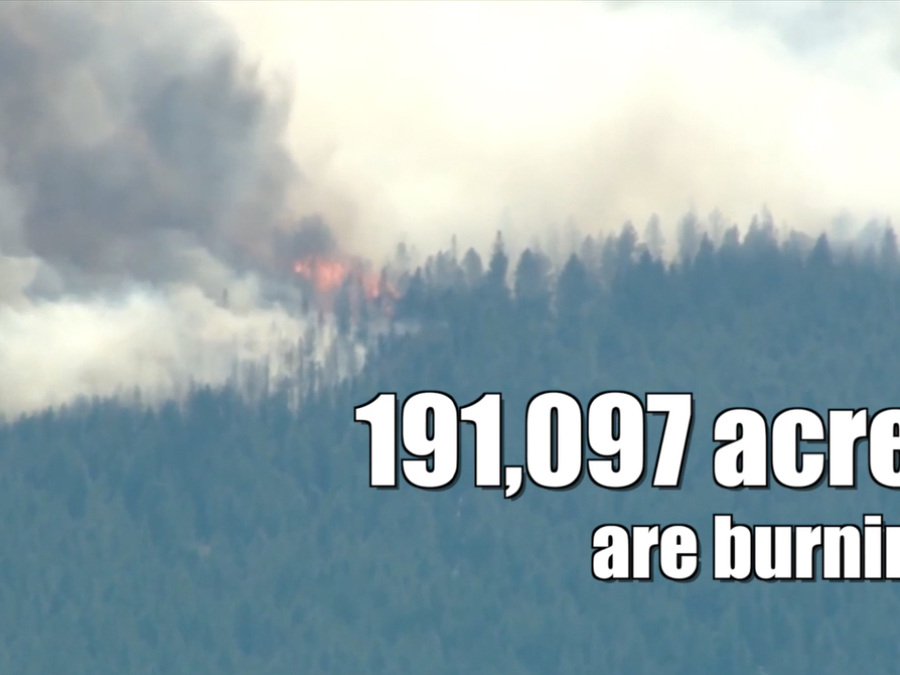 Wildfires are burning across 9 states