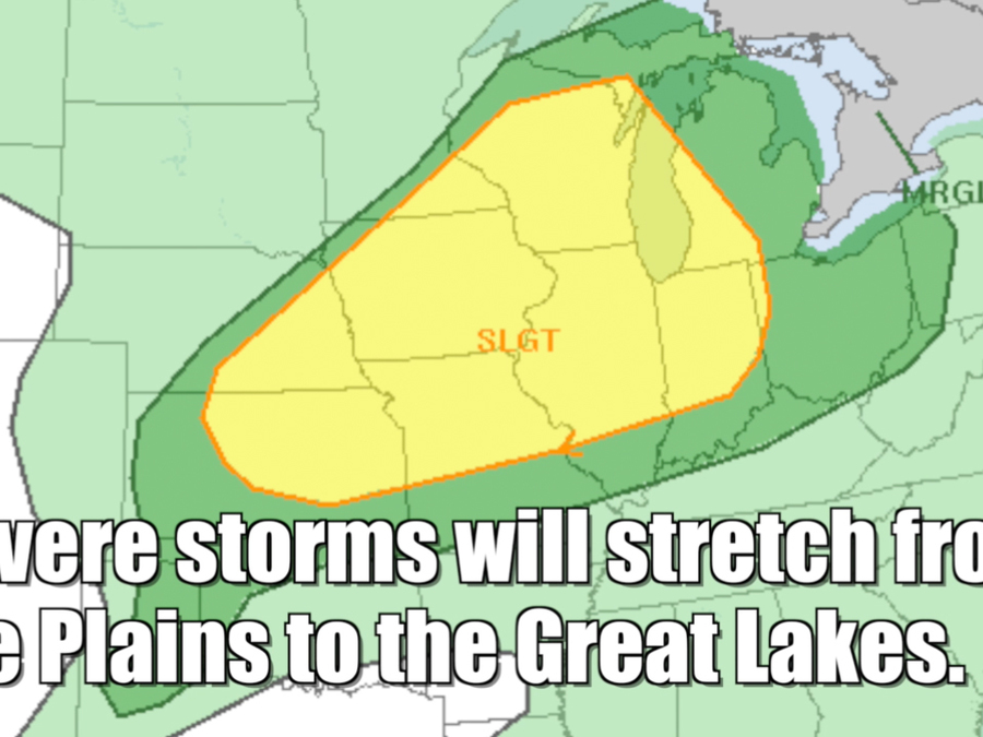 Severe weather threat for July 13, 2016