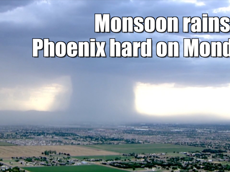 Monsoon rains cause flooding, wind damage in Phoenix