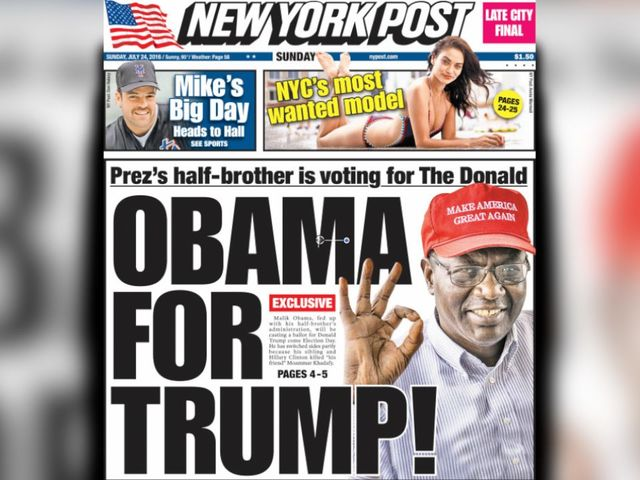 Barack Obama's Half Brother Is Apparently A Big Donald Trump Fan