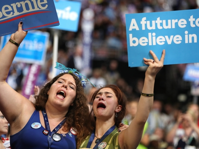 Bernie Sanders' DNC Speech Was (Really) Emotional For His Supporters