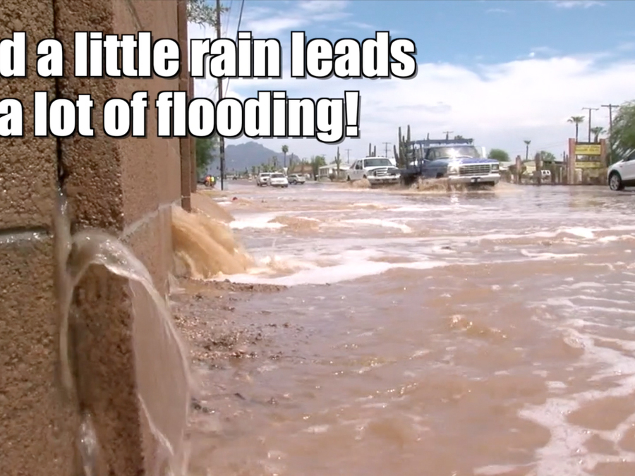 Monsoon rains flood the Southwest
