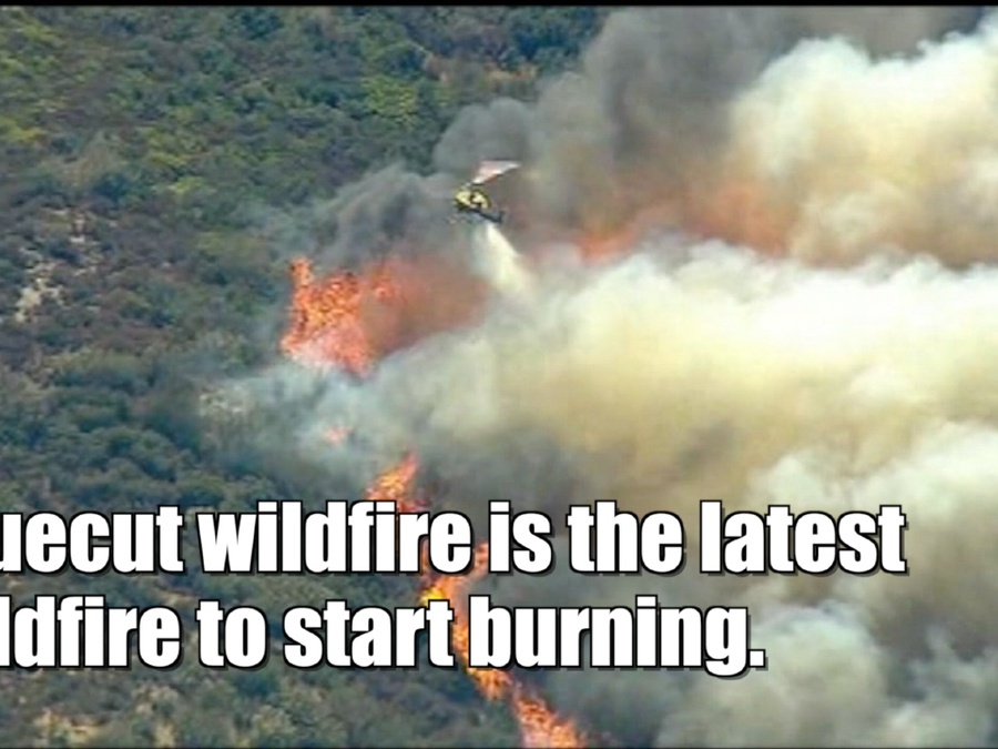 Blue Cut wildfire burns out of control