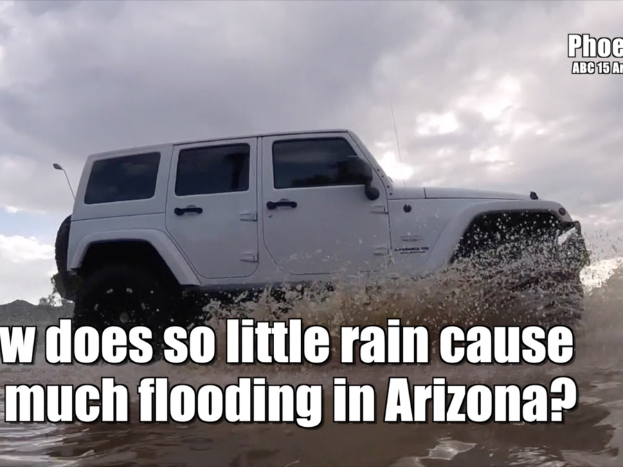 Why does Arizona flood so easily?