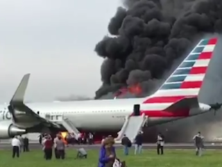 Second plane of day catches fire in Florida