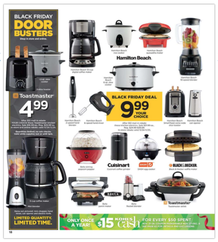 Kohl S Black Friday Ad Reveals 9 99 Appliance Deals