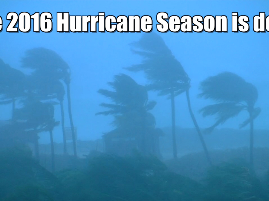 2016 Atlantic Hurricane Season has ended