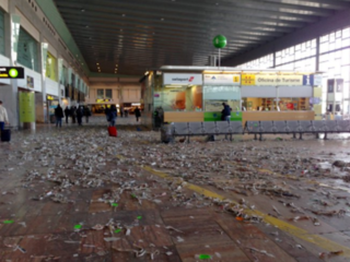 Fliers leave airport filthy