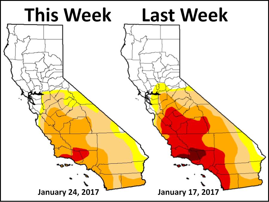 Record January rain shrinks California's drought