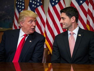 Trump, Ryan at odds over border wall