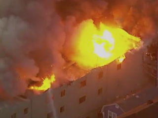 One dead in California four-alarm fire