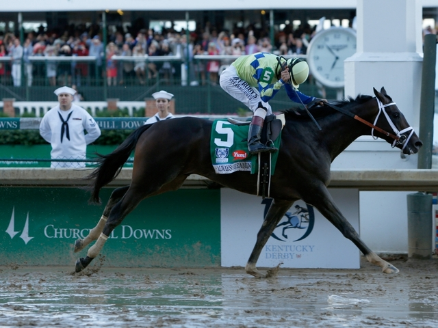 On A Sloppy Track, A Last-Minute Favorite Wins The Kentucky Derby