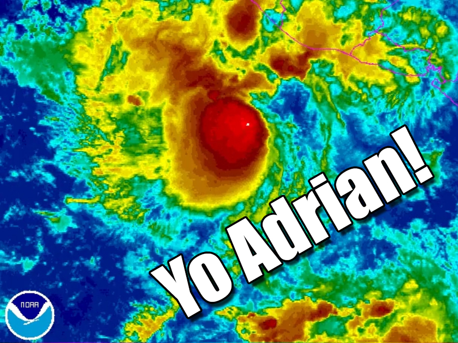 Tropical Storm Adrian earliest Eastern Pacific storm