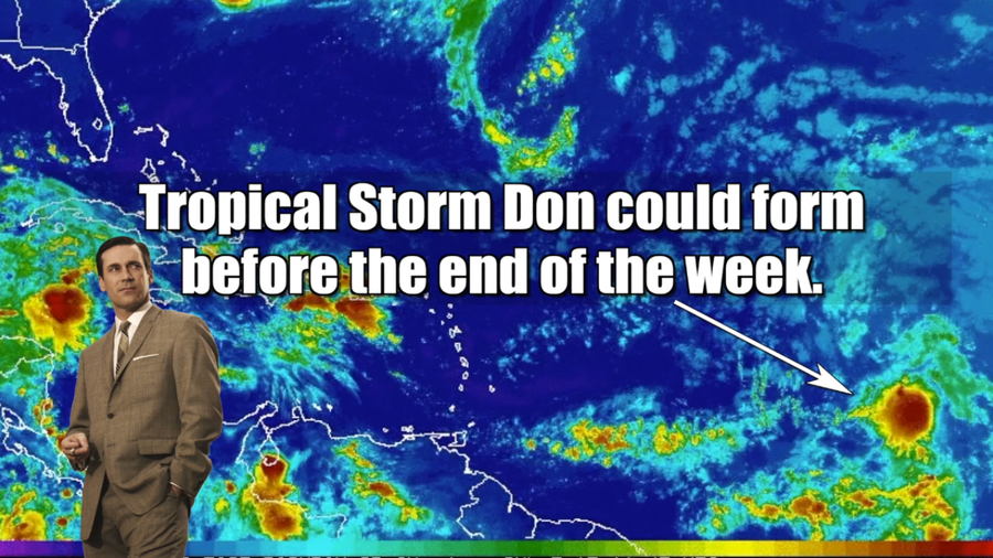 Tropical Storm Don is coming