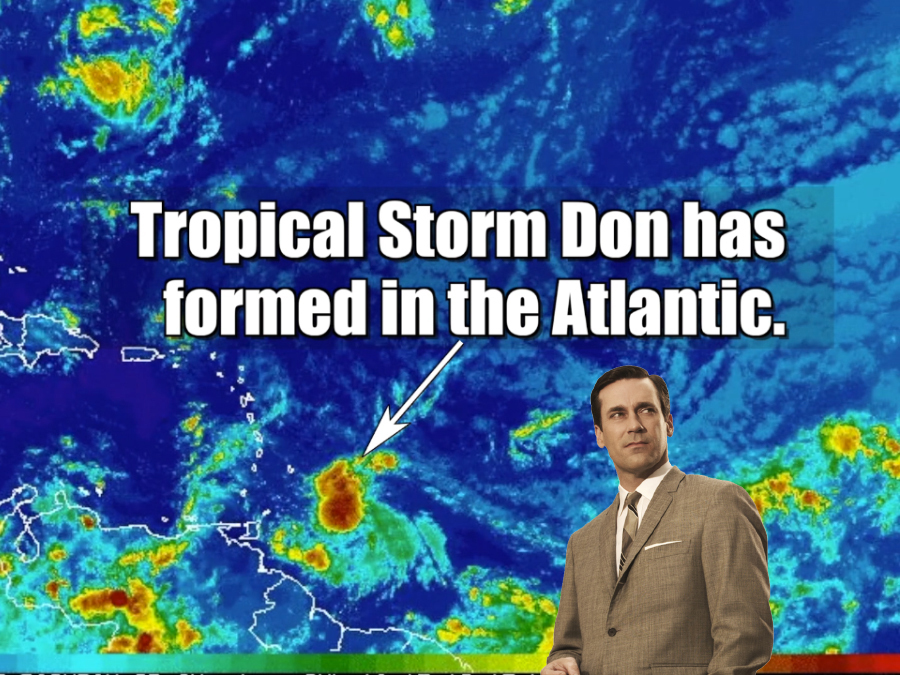 Tropical Storm Don formed in the Atlantic