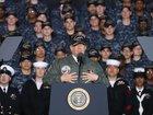 Trump asks Navy crowd to call Congress