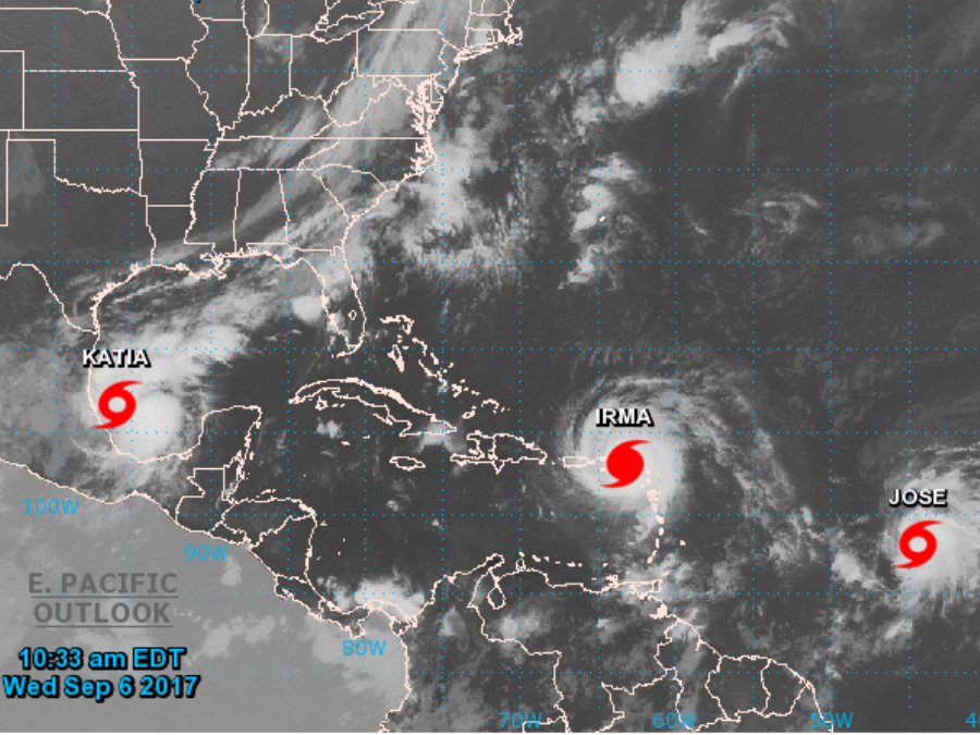 Three tropical systems in the Atlantic