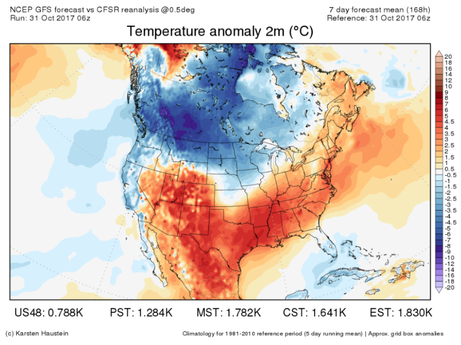 The real reason we change our clocks twice a year looking ahead to the second half of november the warm weather looks like itll persist in the southwest while the cold air sticks around in the northern gumiabroncs Images