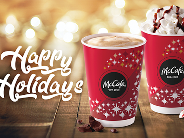 mcdonalds peppermint flavored drinks are also back for the holiday season