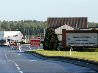 Car attempts to ram US air base gate in UK