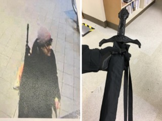 Strange umbrella prompts hospital lockdown
