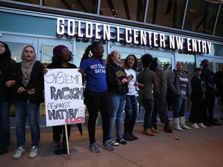 Protests delay NBA game, fans not allowed in