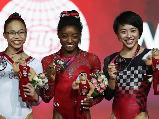 Simone Biles Cleans Up At World Championships With 4 Golds